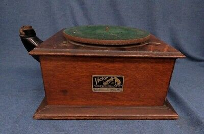 Victor VV-IV Victrola Cabinet W/ Motor, Crank, No Arm Parts Repair