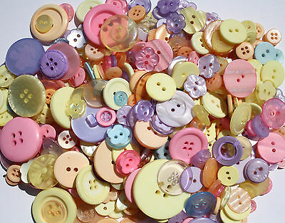 Hand Dyed Buttons in Beautiful Color Mixes Lot of 100-Craft Art Sew Scrapbook