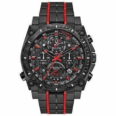 Bulova Men's 98B313 'Precisionist' Chronograph Black Stainless Steel Watch