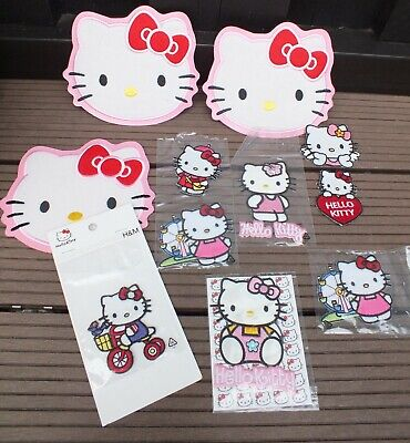11 x Hello Kitty Bügelbild Kinder Aufnäher Aufbügler Flicken Patches Patch