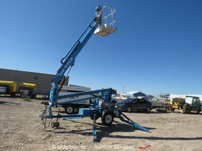 2008 Genie TZ-34/20 34' Towable Electric Articulated Boom Lift Aerial Manlift