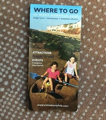 Norfolk 2018 Map & Places To Visit + 25% Discount For Sea Life Centre X6 People