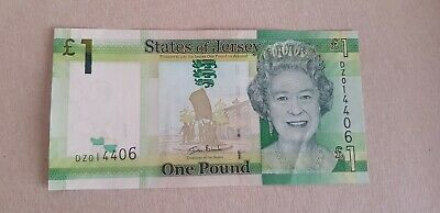 Very Scarce States of Jersey One Pound £1 bank note replacement number unc **