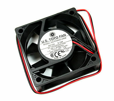 2 pieces US Toyo Fan 60mm X 20mm, 12vdc 0.12A 1.44W 3600RPM 14.8CFM