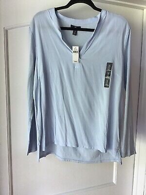 NEW WITH TAGS Gap Large Cotton Light Blue Tunic Long Sleeve  Shirt