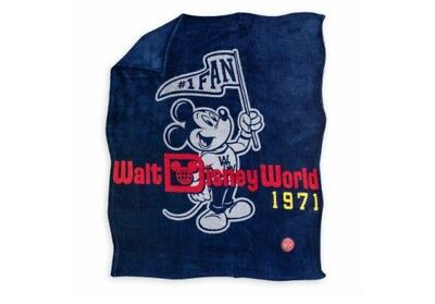 Disney Parks Walt Disney World Mickey Mouse 1971 Throw Blanket Brand New
