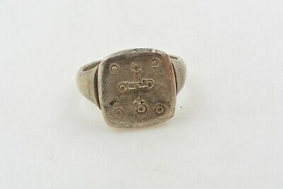 Medieval Knights Templar Silver Ring CROSS Crusader Times 12th C. size 7 1/4