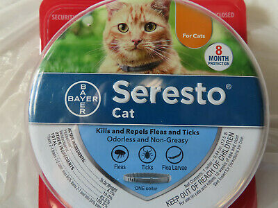 Authentic Bayer Seresto Cat Kittens Flea & Tick Collar 8 Month Protection