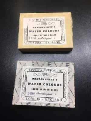 Vintage Winsor & Newton  Large Hexagon stick Cakes Draughtsmens Water Colours
