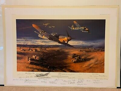 Kursk Clash Of Steel Nicolas Trudgian Luftwaffe Russian 31 pencil sign Remarque