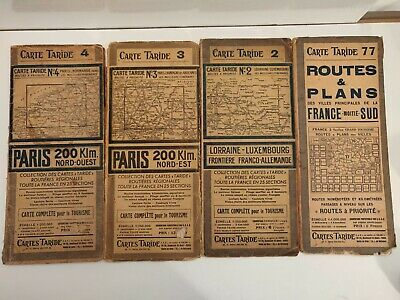 Lot anciennes cartes Taride : Champagne Ardennes, Alsace, Normandie, Sud