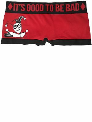 Womens DC Harley Quinn Good To Be Bad Boy Shorts Brief Underwear Panties