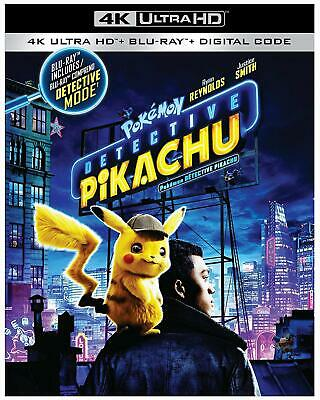 Pokemon Detective Pikachu 4K ( 4K UHD/Blu-ray/Digital ) with Slipcover 2019