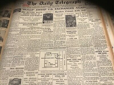 Old August 29 1932 Sydney Newspaper Horse racing Chatham  Stock Exchange