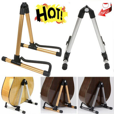 Guitar Floor Stand Electric And Acoustic Hanger Folding Mount Rack Metal Bass US