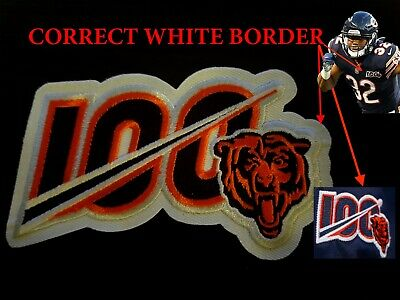 2019 CHICAGO BEARS 100th Anniversary Iron-on NFL Football Jersey PATCH