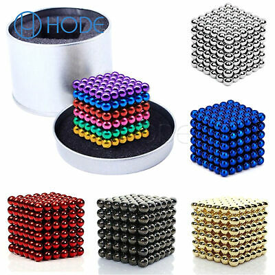 216PCS 3/5mm Magic Magnets Ball Neodymium Sphere 3D Cube Stress Relief  UK