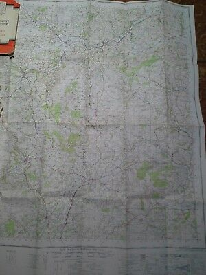 Vintage 1966 Montgomery and Llandrindod Wells Map Ordnance Survey 128