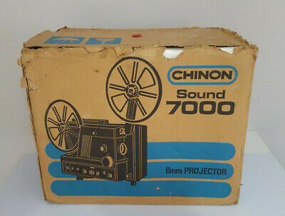 CHINON SOUND 2000 8mm PROYECTOR AS NEW IN BOX WITH ACCESORIES / MADE IN JAPAN