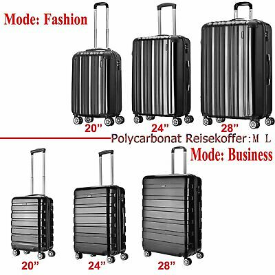 Hartschalenkoffer Kofferset Trolley 4 Rollen Reise Koffer Set M/L/XL Hard Case