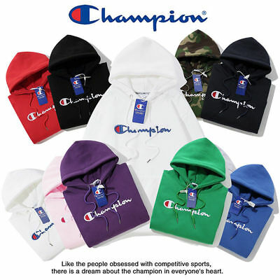 2019 Women's Men's Classic Champion Hoodies Embroidered Hooded Sweatshirts
