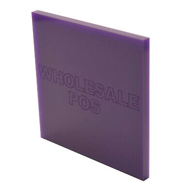 Coloured Acrylic Perspex Sheet 3mm Thick Violet 886 Custom Cut-to-Size Panels