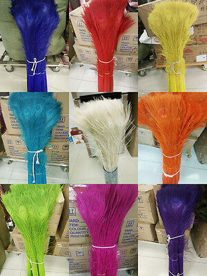 Wholesale!10-100pcs Quality Beautiful Natural Peacock Feather 28-32inch/70-80cm