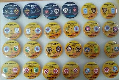 All 2019 - 2020 PLAY-OFF and GROUP STAGE EUROPA LEAGUE EL eurocups match badges