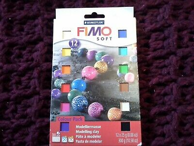 FIMO Soft Modelling Material 12 Colour Set Clay Polymer Oven Bake X 25g