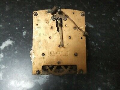 Vintage Enfield Single Chime Clock Movement, Spares, Repair, Steampunk