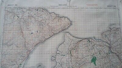 Antique Map Ireland Londonderry Donegal  WWII War Office 1940 Paper Sheet Map