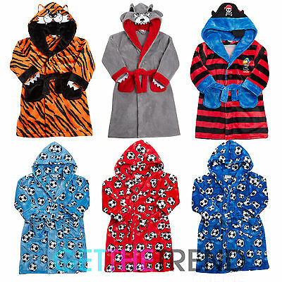 Boys Kids Football Monster Novelty Dressing Gown Infants Novelty Fun Night Robe