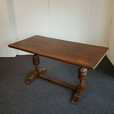 Antique Solid English Oak 5ft Refectory Dining Table (Delivery Available)
