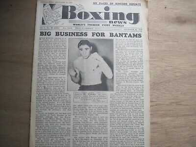 Boxing News Magazine - November 30, 1949. Vintage Issue