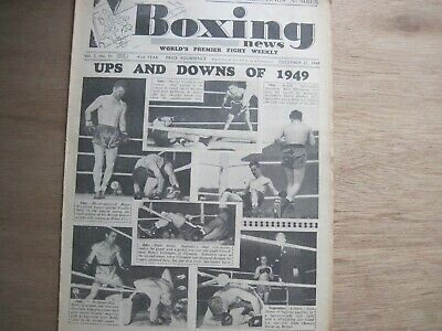 Boxing News Magazine - December 21, 1949. Vintage Issue.