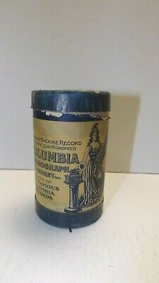 """""""Columbia Phonograph Company"""" - record Cylinder - container and record"""