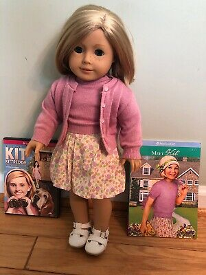 """18"""" American Girl Doll Kit Kittredge with book and movie (dvd)"""