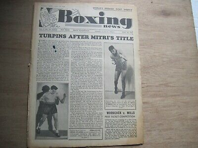 Boxing News Magazine - May 18, 1949. Vintage Issue.