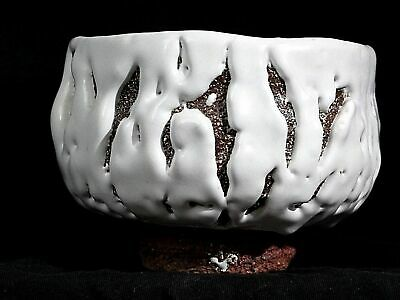 Seigan Yamane Tea cup Bowl Chawan ONI HAGI WARE JAPAN RARE DEMON BOWL