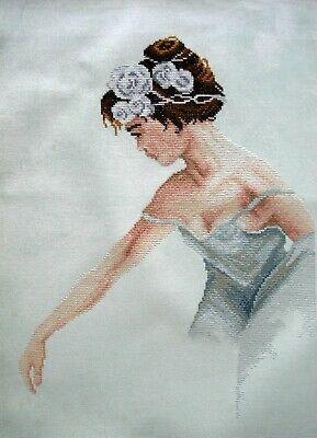 Lanarte Linen Completed Counted Cross Stitch Unframed Picture Ballerina