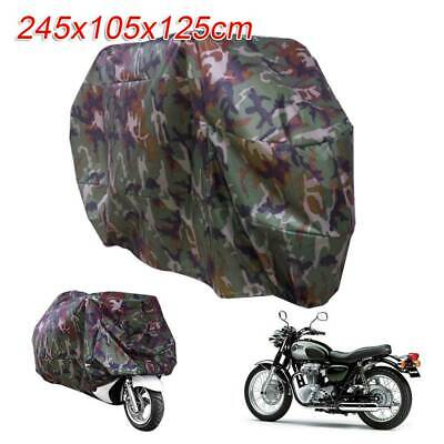 Heavy Waterproof Motorcycle Cover Oxford Dustproof Motorbike Shelter Camouflage