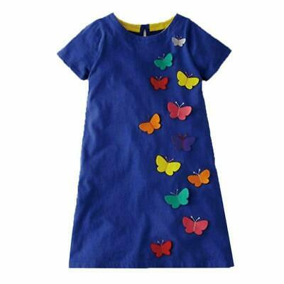 VIKITA 2018 Toddler Girls Summer Dresses Short Sleeve Outfit 3-8 Years