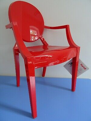 Stuhl Kartell LOU LOU GHOST Philippe Starck design postmodern rot unbenutzt
