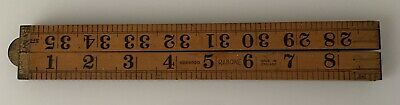 "Vintage Rabone Folding Rule, Boxwood and Brass,  No 1167,  3ft (36"")"