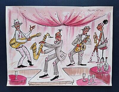 Marta Rodilla **  Jazz Connaction    ** Peinture Originale