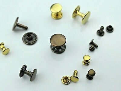 Hollow Rivets,Double Headed,Rust-Free,Brass,6mm,7mm,9mm,10mm,13mm,Gelb ,