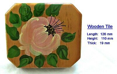 decorated hand painted wooden square