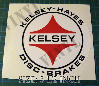 "Vintage Kelsey- Hayes Round 5 1/2"" Vinyl Sticker Decal - Scca - Trans Am Racing"