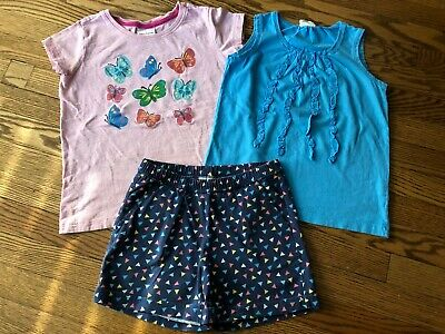 Girl's MINI BODEN Tank + HANNA ANDERSSON Shorts Set - Size 140 (9-10)