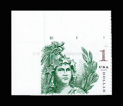 Scott #5295 Statue of Freedom - $1.00 - XF-MNH-S/A, Plate Number Single